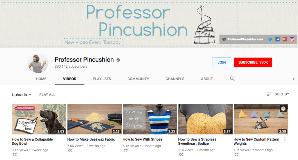 pinterest influencer social media advertising professor pincushion