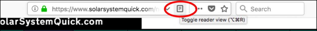 reader view button browser